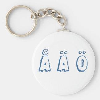 Swedish letters (å ä ö) keychain