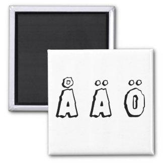 Swedish letters (å ä ö) magnet