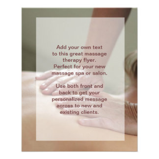 massage price list template - massage therapy promotional flyers massage therapy