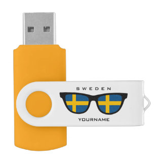 Swedish Shades custom USB drives Swivel USB 3.0 Flash Drive