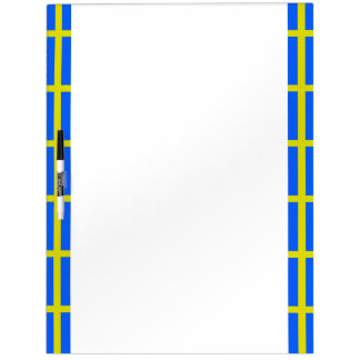 Swedish stripes flag dry erase board