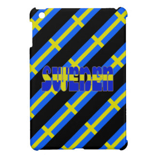 Swedish stripes flag iPad mini case