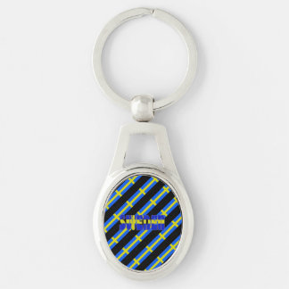 Swedish stripes flag keychain