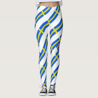 Swedish stripes flag leggings
