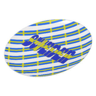 Swedish stripes flag plate
