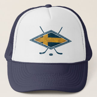 Swedish Sverige Ice Hockey Mesh Hat