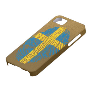 Swedish touch fingerprint flag case for the iPhone 5