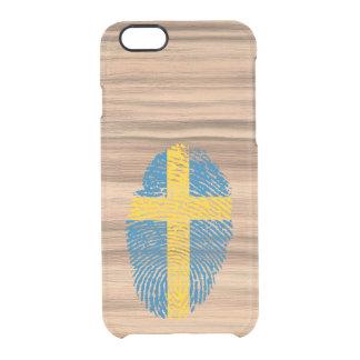 Swedish touch fingerprint flag clear iPhone 6/6S case