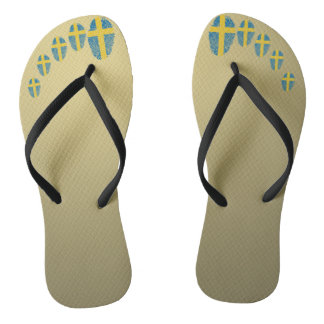 Swedish touch fingerprint flag flip flops