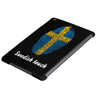 Swedish touch fingerprint flag iPad air cases