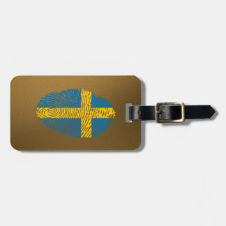 Swedish touch fingerprint flag luggage tag