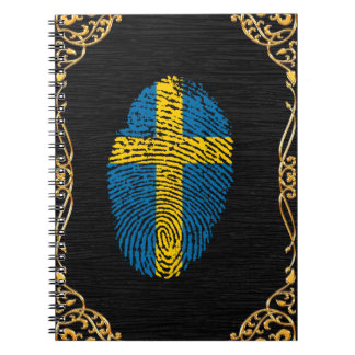 Swedish touch fingerprint flag notebooks