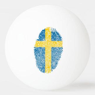 Swedish touch fingerprint flag Ping-Pong ball