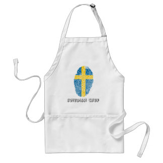 Swedish touch fingerprint flag standard apron