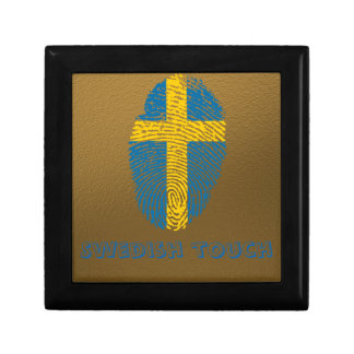 Swedish touch fingerprint flag trinket boxes