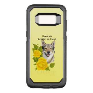 Swedish Vallhund and Yellow Roses OtterBox Commuter Samsung Galaxy S8 Case