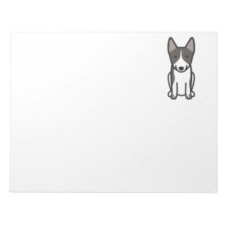Swedish Vallhund Dog Cartoon Notepad