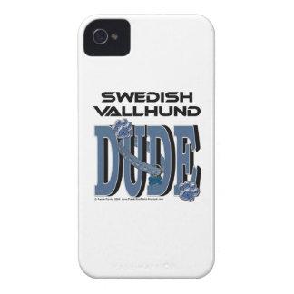 Swedish Vallhund DUDE Case-Mate iPhone 4 Cases