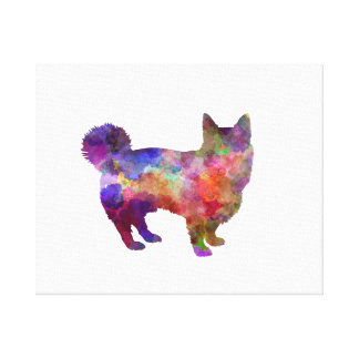 Swedish Vallhund in watercolor Canvas Print