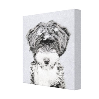 Swedish Vallhund Painting - Cute Original Dog Art Canvas Print