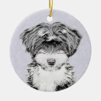 Swedish Vallhund Painting - Cute Original Dog Art Ceramic Ornament
