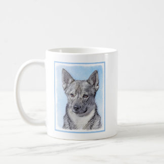 Swedish Vallhund Painting - Cute Original Dog Art Coffee Mug