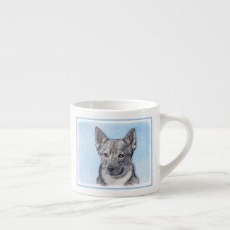 Swedish Vallhund Painting - Cute Original Dog Art Espresso Cup