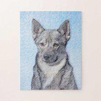 Swedish Vallhund Painting - Cute Original Dog Art Jigsaw Puzzle