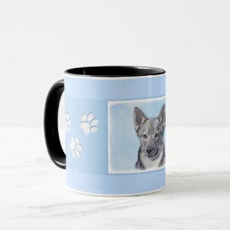 Swedish Vallhund Painting - Cute Original Dog Art Mug