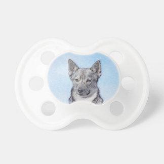 Swedish Vallhund Painting - Cute Original Dog Art Pacifier