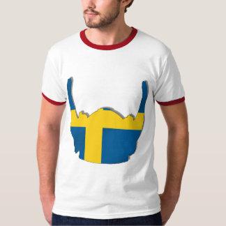 Swedish Viking helmet flag of Sweden Sverige flags T-Shirt