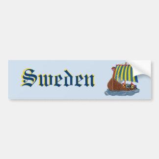 Swedish Viking Ship Bumper Sticker