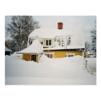 Swedish winter postcard