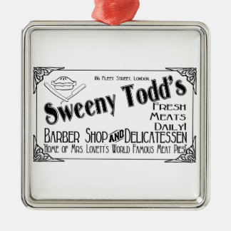 Sweeny Todd's Barber Shop & Delicatessen Christmas Ornament