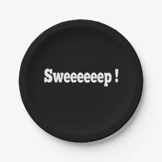 Sweep! Curling Paper Plate