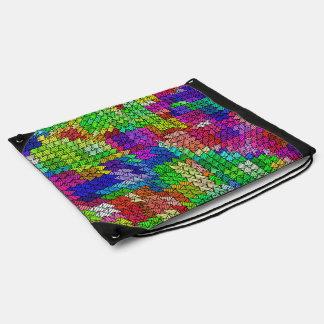 Sweeping pattern 01 drawstring bag