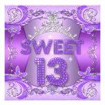 Sweet 13 13th Birthday Party Purple Silver Tiara