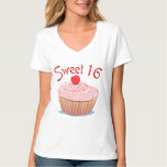 Sweet 16 16th Birthday Cupcake Tshirts