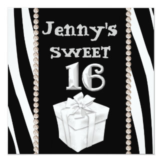 SWEET 16 ANIMAL PRINT Party Invitation