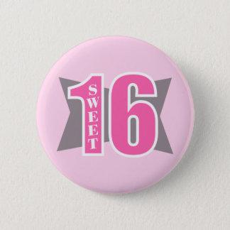 Sweet 16 (Art Deco) 2 Inch Round Button