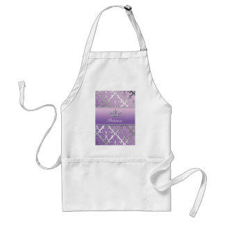 Sweet 16 Birthday Damask Baby Shower Crown Standard Apron
