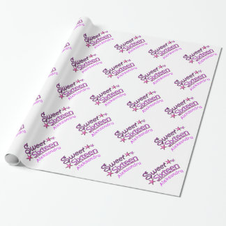 Sweet 16 Birthday Girl with Custom Name Pattern Wrapping Paper