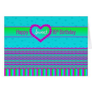 Sweet 16 Birthday Greeting -  Feminine - Modern Card