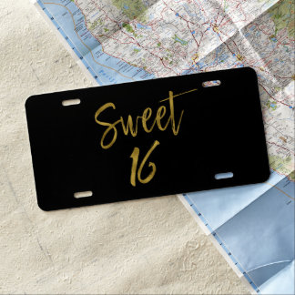 Sweet 16 Birthday License Plate Cover