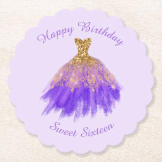 Sweet 16  Birthday Paper Coaster