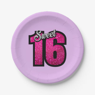 Sweet 16 Birthday Paper Plate
