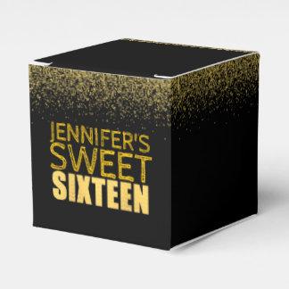 Sweet 16 Birthday Party Favor Box Fx Gold Glitter