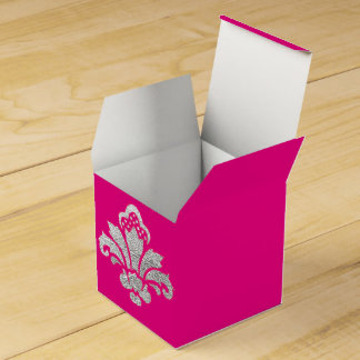 Sweet 16 Birthday Party Favor Box Silver Damask
