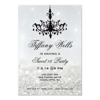 Sweet 16 Birthday Party Invite | Chandelier
