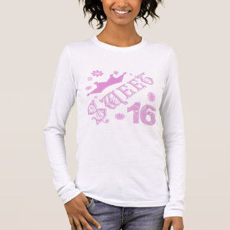 Sweet 16 Birthday With Crown Long Sleeve T-Shirt